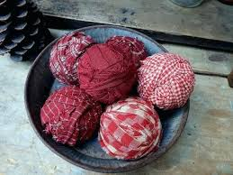 Red Decorative Balls For Bowls Red Decorative Balls For Bowls Red Homespun Rag Balls Bowl Fillers 16