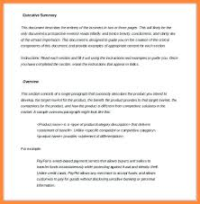 Samples Of Executive Summary Report Evaluation Template Format ...