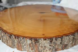 diy resin wood slice side table top our crafty mom