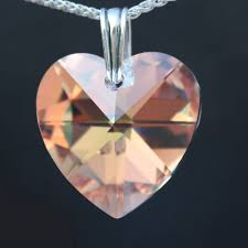 rochester crystals large heart pendant made with swarovski elements