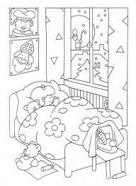 Kleurplaat Slaapkamer Cartoonboxinfo