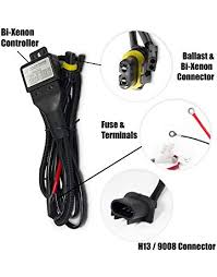 amazon com hid kits lighting conversion kits automotive xtremevision h13 9008 hi lo bi xenon controller hid battery relay wiring harness