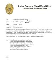 governor fallin sets date for tulsa sheriff special election ktul page 2 of sheriff glanz s resignation letter
