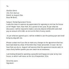 Lease Agreement Letter Sample Rental Template Free Documents In Rent ...