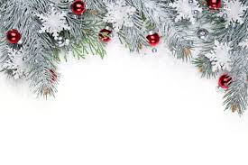 Christmas Snowy Background with Red Ornaments | Gallery ...