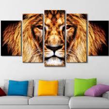 lion king canvas wall art throughout favorite li hear him roar lion animal canvas
