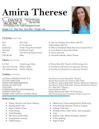 Actor Resume Adorable Resume For Acting Canreklonecco