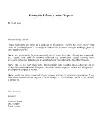 Reference Letter Template Employment Request Arttion Co