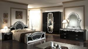 Silver And Black Bedroom Rococo Bedroom Traditional In Bllack Silver By Vig