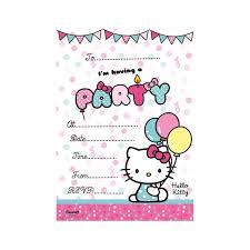 Hello Kitty Invitation Hello Kitty Invites Party Invitation Cards