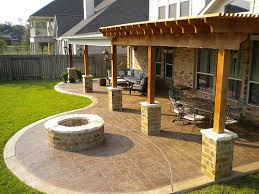 covered stamped concrete patio. Patio Cover And Cedar Pergola With Stamped Concrete Fire Pit Missouri  City Sienna Plantation   Flickr - Photo Sharing! Covered Patio M