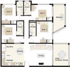 ... House Plans 4 Bedroom Cottage Enjoyable Design 5 Residential ...
