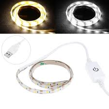 Usb Powered Outdoor Lights 0 5m Usb Powered Waterproof Led Strip Light With Touch Dimmer Switch For Outdoor Home Decor Dc5v
