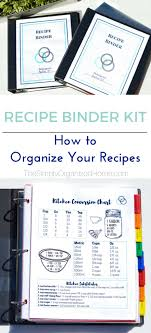 organize your recipes with this easy to use recipe binder kit