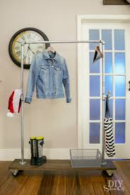 a diy moveable mobile coat rack i am so over the utility types that teeter lean or fall over when filled up know what i mean