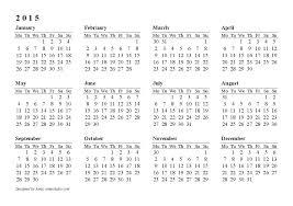 Annual Calendar 2015 Year Calendar Template 2015 Reshaper Me