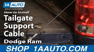 How to Replace Tailgate Cables 02-08 Dodge Ram 1500 | 1A Auto