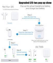 Yeni i20 TWS Pop up W1 Chip 1:1 Bluetooth Kulaklık 6D Süper Bas Ses  Kulakiçi Kablosuz Kulaklık i20tws PK i10 i20 i60 i80 i12 Bluetooth  Earphones & Headphones