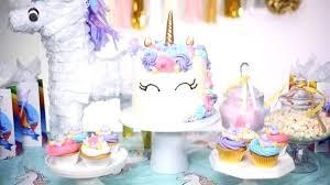 Birthday Party Table Hot Air Balloon Rainbow Unicorn First Birthday