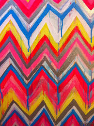 Custom ikat chevron 16x20 Painting by Jennifer Moreman via Etsy.