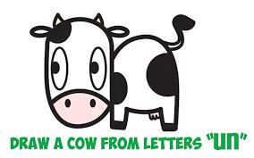 cute farm animals drawings. Plain Farm How To Draw A Cute Cartoon Kawaii Cow Easy Step By Drawing Tutorial  For Kids Throughout Farm Animals Drawings I