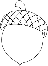Acorn Coloring Pages To Print Templates Pinterest Coloring