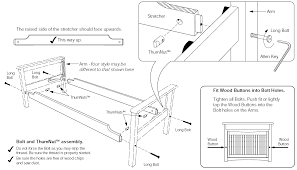 luxury futon frame assembly 1 attach the stretchers to the arms using long bolts