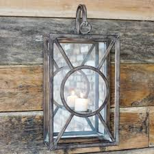 iron wall mounted candle holder black