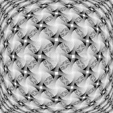 Design Monochrome Warped Grid Stock Vector Colourbox
