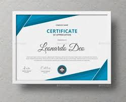 Certificate Template Photoshop Certificate Of Recognition Template Word Eps Ai And Psd Format