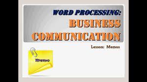 Business Memorandum Letter Business Communication Memos Youtube