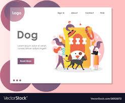 Dog Web Design Dog Website Landing Page Design Template