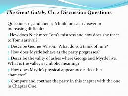 symbols in the great gatsby ppt video online the great gatsby ch 2 discussion questions