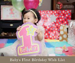 baby s first birthday wish list