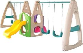 double swing set double swing set with slide plum roloway wooden double swing set with slide