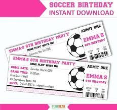 Play Ticket Template Soccer Ticket Birthday Invitation Invitations Templates Free