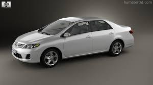 360 view of Toyota Corolla (E140) sedan EU 2012 3D model - Hum3D store