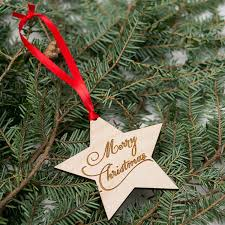 2 Stückelotchristmas Christbaumschmuck Holz Sterne