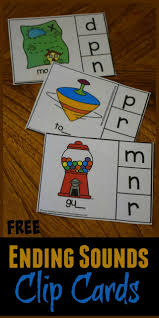 Students look at the pictures and circle the correct word. Free Ending Sounds Clip Cards Activity