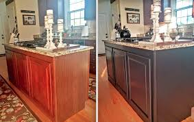 painted kitchen islandsPainted Kitchen Cabinets Makeover Before  After  At Home With