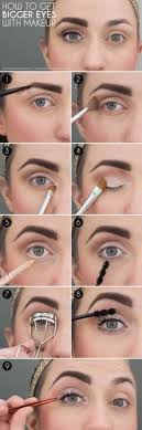 makeup tutorials for small eyes how to make eyes look bigger easy step by