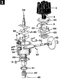 page land cruiser distributor std semi electronic mechanical ignition fj25 fj40 fj55