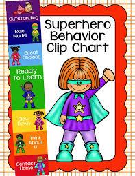 Behavior Clip Chart Behavior Management Superhero 4