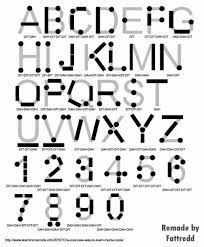 Morse Code Letter Chart Is There A Logic Behind Morse Code Or You Just Have To