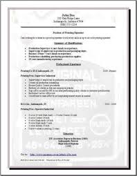 Publishing Printing Resume Occupational Examples Samples Free Edit