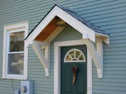 front door overhangroof over front door entrance  Bungalow Restoration Side door