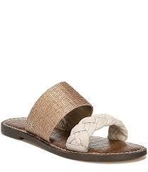 sam edelman gage raffia and woven leather sandals