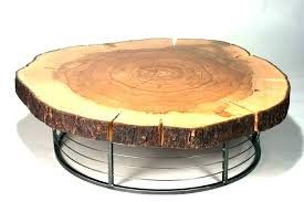 wood stump coffee table natural tree side tables glass