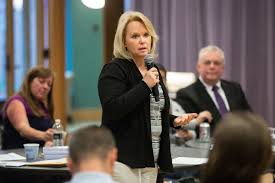 Round Table Tracy Eb Hope Participates In Round Table Discussion At Stonehill