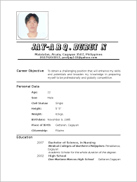 Resume For Newly Registered Nurse In Philippines Resume Resume